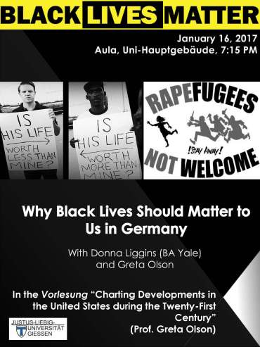 Poster Why Black Lives Matter in Germany